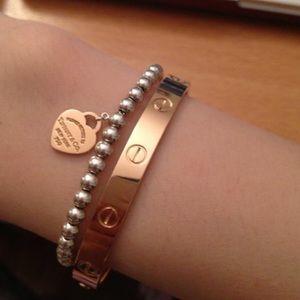 Dainty Unisex Gold Screw Cuff Wrap Bracelet Bangle